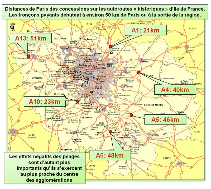 Plan concessions autoroutières franciliennes